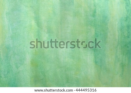 close up of water color strokes painting with paper texture - stock photo