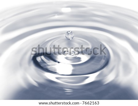 Close-up of water droplet splash - stock photo