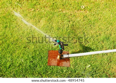close up of water sprinkler