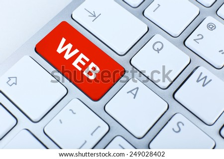 Close up of WEB keyboard button