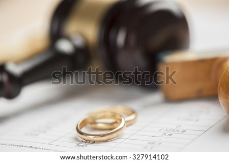 Close-up Of Wedding Rings  - stock photo