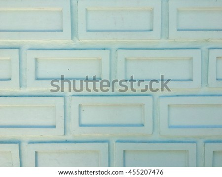 close up of white brick wall background in rural - stock photo
