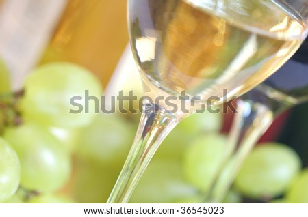 Close-up of white wine - stock photo