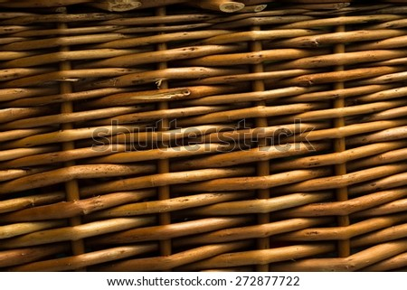 Close up of wicker basket texture. Texture useful as background. - stock photo