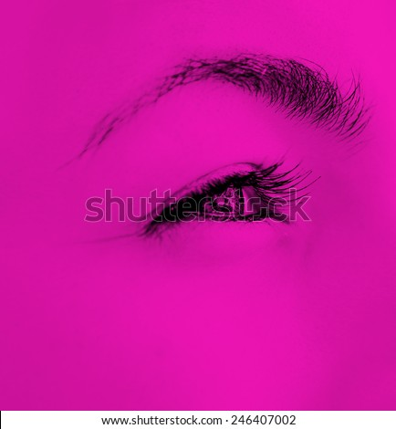 Close-up of  woman's eyes. - stock photo
