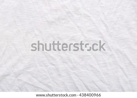 fabric sheet texture. close up of wrinkled white color fabric bed sheet texture background. e