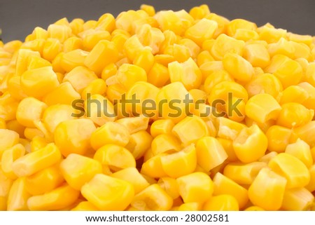 Close up of yellow corn