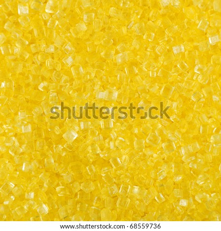 Close up of yellow crystals - square crop