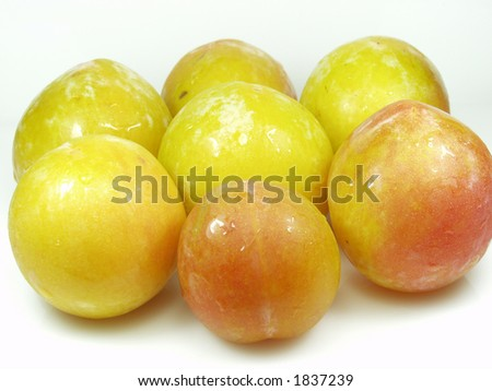close up of yellow fresh plum