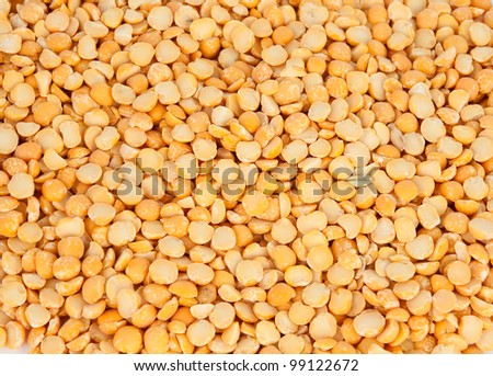 Close-up of yellow split peas - stock photo