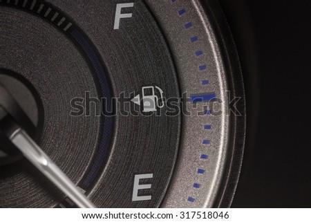 close-up oil panel Car dark style - stock photo