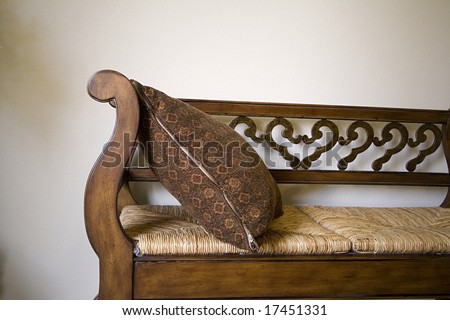 Close up on a Bench in a Trendy Modern Living Room - stock photo