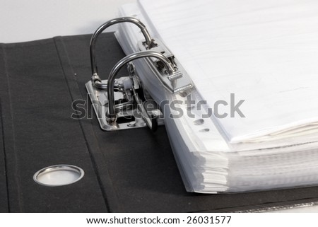 Close-up on an open folder - stock photo