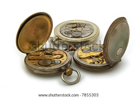 Close up on antique watches - stock photo