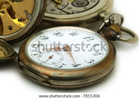 Close up on antique watches