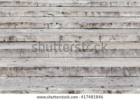 Close up on granite stairs details - front view - stock photo