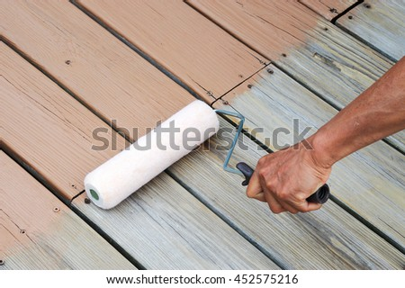 Wood stain stock images royalty free images vectors for Best deck paint for old wood
