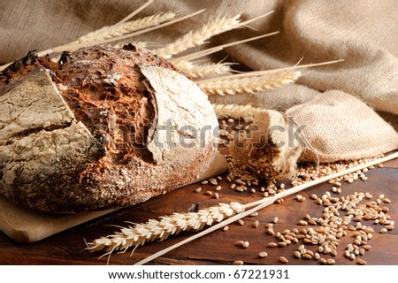 Close-up on traditional bread.