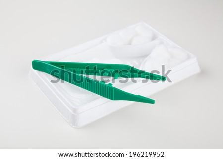 Close up on wound dressing - stock photo