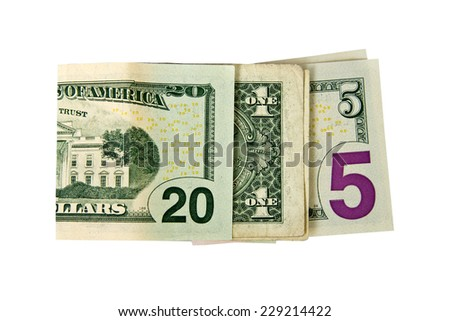 CLose up on 2015 written with dollars isolated on white background - stock photo