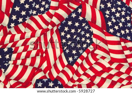close up painted american flag pattern - stock photo