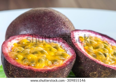 Close-up Passion fruits - stock photo