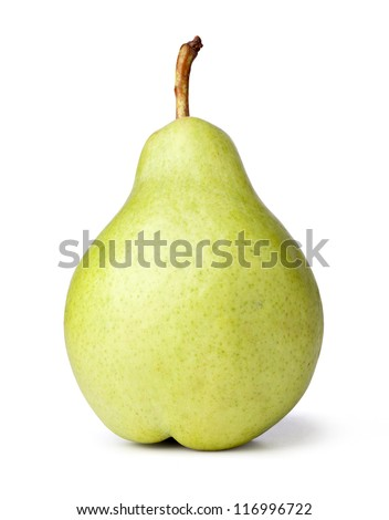 Close up Pear on a white background - stock photo