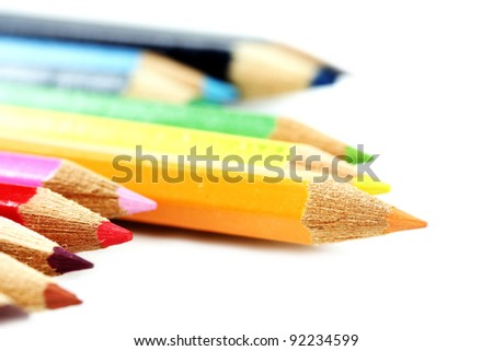 Close-up pencil. Very good details and colors. - stock photo