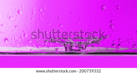 Close up photo of a water drops  - stock photo