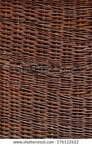 Close up photo of a wicker box