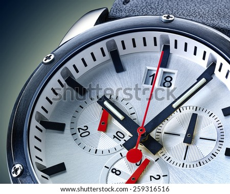 close up photo of a wristwatch with clipping path