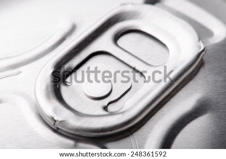Close-up photo of aluminum jar for cola or beer - stock photo