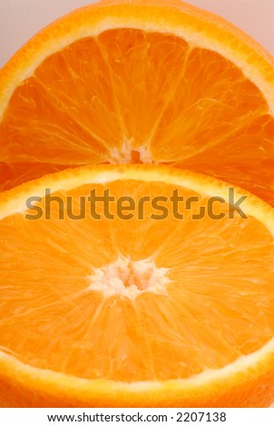 Close up photo of an orange.