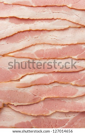 close-up photo of bacon for backgrounds or textures