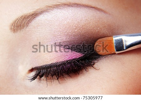 Close up photo of fashion eye makeup