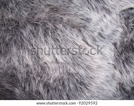 Close up photo of faux fur - stock photo