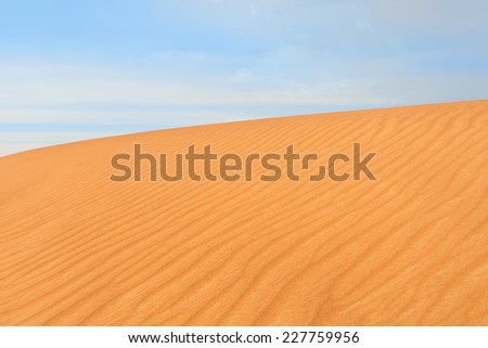 Close-up photo of sand dune in the desert of United Arab Emirates - stock photo