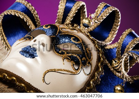 Close up photo of venice carnival mask
