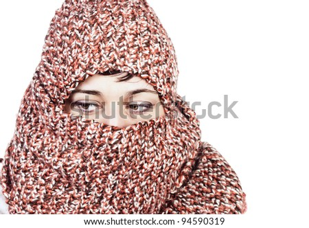 close up photo of women with scarf