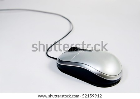 Close up photo shoot of a mouse at a angle. - stock photo