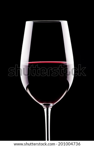 Close up photograph of a glass of wine