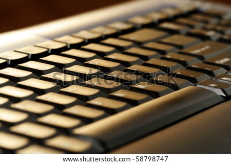 Close-up picture of a computer keyboard