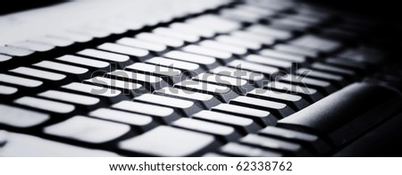 Close-up picture of a computer keyboard - stock photo