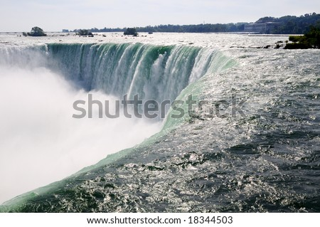 Close-up picture of the Canadian part of Niagara falls - stock photo