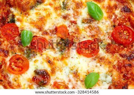 close up Pizza Margherita. - stock photo