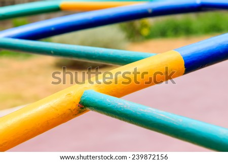 Close up playground equipment - stock photo