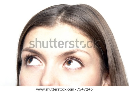 Close-up portrait of a beautiful teenager - stock photo