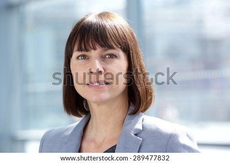 Close up portrait of a middle aged professional business woman  - stock photo