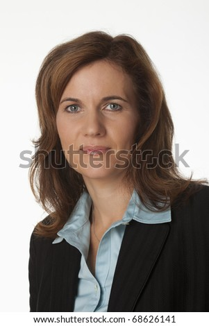 Close-up Portrait of a woman manager - stock photo