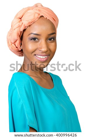 close up portrait of african american woman